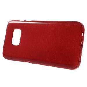 Brush gélový obal pre mobil Samsung Galaxy S7 - červený - 2