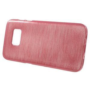 Brush gélový obal pre mobil Samsung Galaxy S7 - ružový - 2