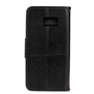 Stand peňaženkové puzdro pre Samsung Galaxy S7 - čierné - 2