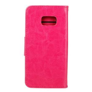 Stand peňaženkové puzdro pre Samsung Galaxy S7 - rose - 2