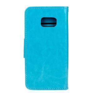 Stand peňaženkové puzdro pre Samsung Galaxy S7 - modré - 2