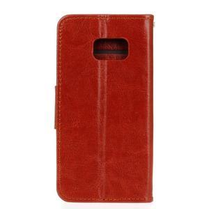 Stand peňaženkové puzdro pre Samsung Galaxy S7 - hnedé - 2