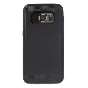 Dvoudílný odolný kryt na Samsung Galaxy S7 - černý - 2