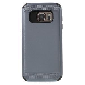 Dvoudílný odolný kryt na Samsung Galaxy S7 - šedý - 2