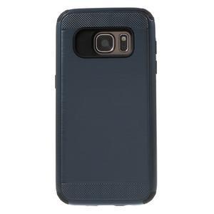 Dvoudílný odolný kryt na Samsung Galaxy S7 - tmavěmodrý - 2