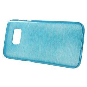 Brush gélový obal pre mobil Samsung Galaxy S7 - modrý - 2