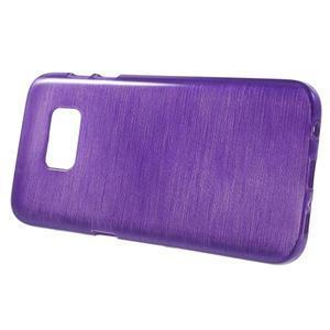 Brush gélový obal pre mobil Samsung Galaxy S7 - fialový - 2