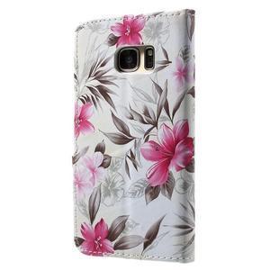 Flower pouzdro na mobil Samsung Galaxy S7 - bílé pozadí - 2