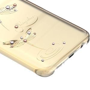 Swarowski plastový obal s kamínky na Samsung Galaxy S7 - vážky - 2