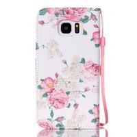 Kvetinové peňaženkové puzdro pre Samsung Galaxy S7 Edge - 2/5