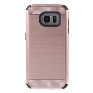 Odolný dvoudílný obal na Samsung Galaxy S7 edge - zlatorůžový - 2