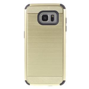 Odolný dvoudílný obal na Samsung Galaxy S7 edge - zlatý - 2