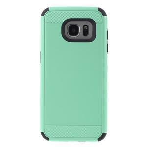 Odolný dvoudílný obal na Samsung Galaxy S7 edge - azurový - 2