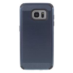 Odolný dvoudílný obal na Samsung Galaxy S7 edge - tmavěmodrý - 2