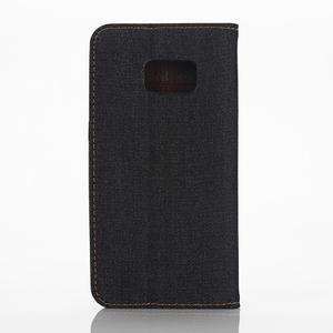 Jeans pouzdro na mobil Samsung Galaxy S7 edge - černomodré - 2