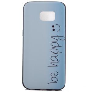 Backy gelový obal na Samsung Galaxy S7 edge - be happy - 2