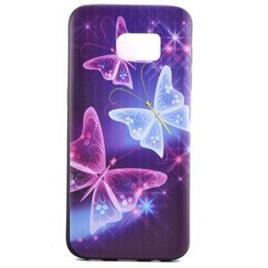 Backy gélový obal pre Samsung Galaxy S7 edge - čarovné motýle - 2