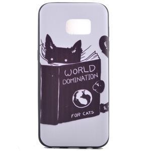 Backy gélový obal pre Samsung Galaxy S7 edge - mačka - 2