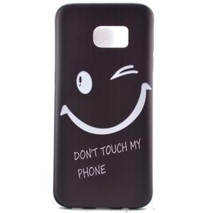 Backy gelový obal na Samsung Galaxy S7 edge - nedotýkat se - 2