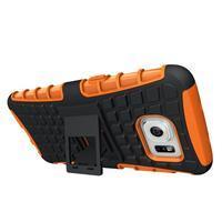Odolný outdoor kryt na Samsung Galaxy S7 edge - oranžový - 2/5