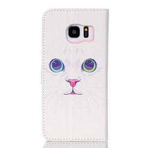 Cross peňaženkové puzdro pre Samsung Galaxy S7 edge - mačička - 2