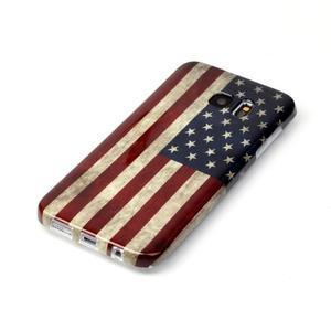 Softy gelový obal na Samsung Galaxy S7 edge - US vlajka - 2