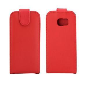 Flipové puzdro pre mobil Samsung Galaxy S7 edge - červené - 2