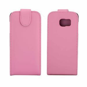 Flipové puzdro pre mobil Samsung Galaxy S7 edge - ružové - 2