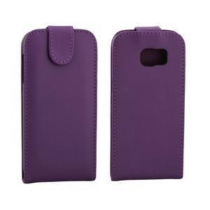 Flipové pouzdro na mobil Samsung Galaxy S7 edge - fialové - 2