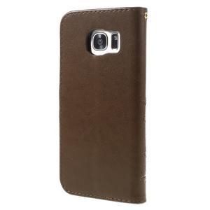 Butterfly PU kožené pouzdro na Samsung Galaxy S7 edge - fcoffee - 2