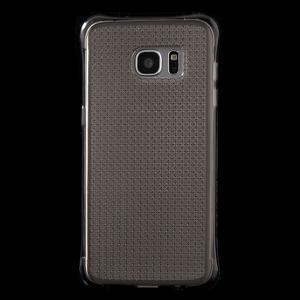 Glitter gélový obal pre Samsung Galaxy S7 edge - šedý - 2