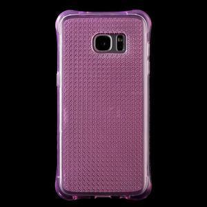 Glitter gélový obal pre Samsung Galaxy S7 edge - rose - 2