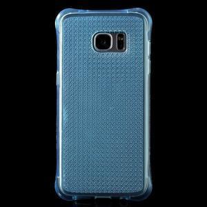 Glitter gelový obal na Samsung Galaxy S7 edge - modrý - 2