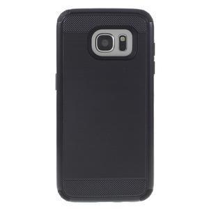 Odolný dvoudílný obal na Samsung Galaxy S7 edge - černý - 2