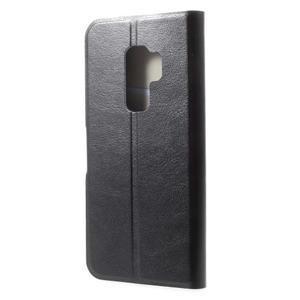 Horse PU kožené zapínacie púzdro na Samsung Galaxy S9 Plus - čierne - 2