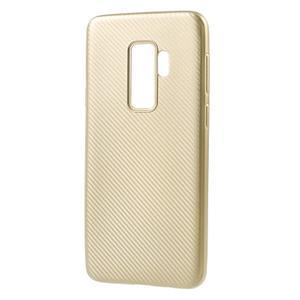 Flexi gélový obal so štruktúrou na Samsung Galaxy S9 Plus - zlatý - 2