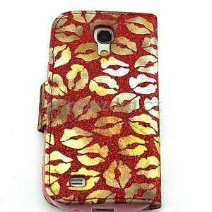 Pusinky peňaženkové puzdro na Samsung Galaxy S4 Mini - červené - 2