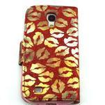 Pusinky peňaženkové puzdro na Samsung Galaxy S4 Mini - červené - 2/4