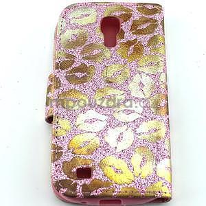 Pusinky peňaženkové puzdro na Samsung Galaxy S4 Mini - růžové - 2