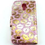 Pusinky peňaženkové puzdro na Samsung Galaxy S4 Mini - růžové - 2/4