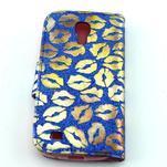 Pusinky peňaženkové puzdro na Samsung Galaxy S4 Mini - modré - 2/4