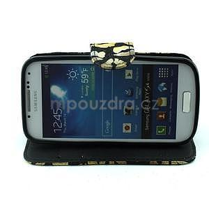 Pusinky peňaženkové puzdro pre Samsung Galaxy S4 Mini - čierné - 2