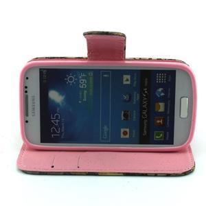 Pusinky peňaženkové puzdro pre Samsung Galaxy S4 Mini - style - 2