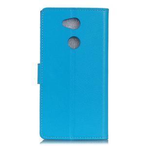 Litchi PU kožené púzdro na Sony Xperia L2 - modré - 2