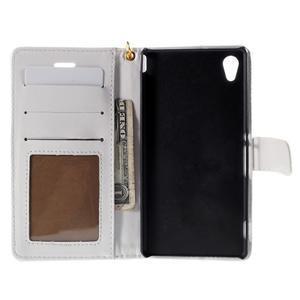 biele PU kožené puzdro aligátor pre Sony Xperia M4 Aqua - 2