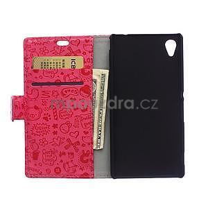 Rose texturované pouzdro na Sony Xperia M4 Aqua - 2
