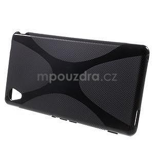 Čierny gélový obal pre Sony Xperia M4 Aqua - 2
