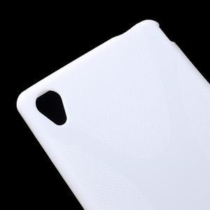 Biely gélový obal pre Sony Xperia M4 Aqua - 2