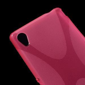 Rose gélový obal pre Sony Xperia M4 Aqua - 2