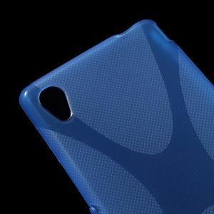 Modrý gelový obal na Sony Xperia M4 Aqua - 2